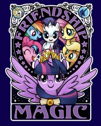 Winner of the My Little Pony: Team Up competition at We Love Fine. http://www.welovefine.com/friendship-magic-9566.html