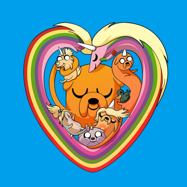 Winner of the Adventure Time design competition at We Love Fine. http://www.welovefine.com/puppy-love-10412/