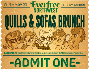 VIP Event Ticket Design(3/3) for Everfree Northwest Pop Culture Convention