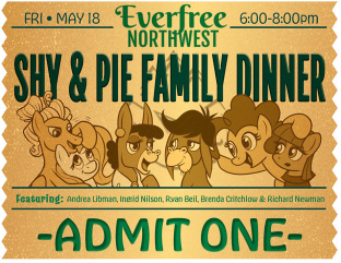 VIP Event Ticket Design(1/3) for Everfree Northwest Pop Culture Convention