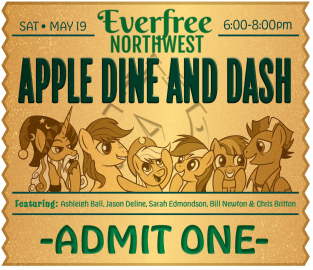VIP Event Ticket Design(2/3) for Everfree Northwest Pop Culture Convention